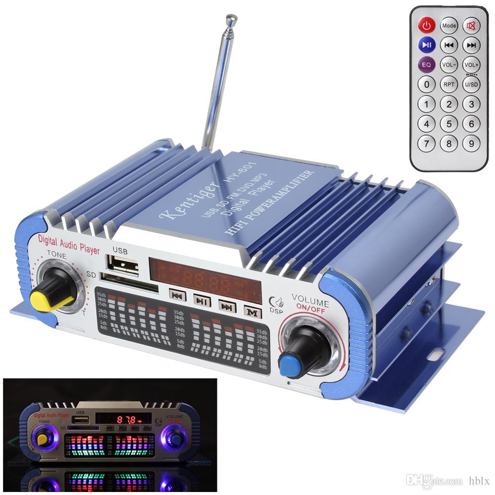 HY601 2 Kanäle Hallo-fi Mini Digital Motorrad Auto Auto Stereo Endstufe Sound-Modus Audio Musik Player Unterstützung USB / FM / SD CEC_818