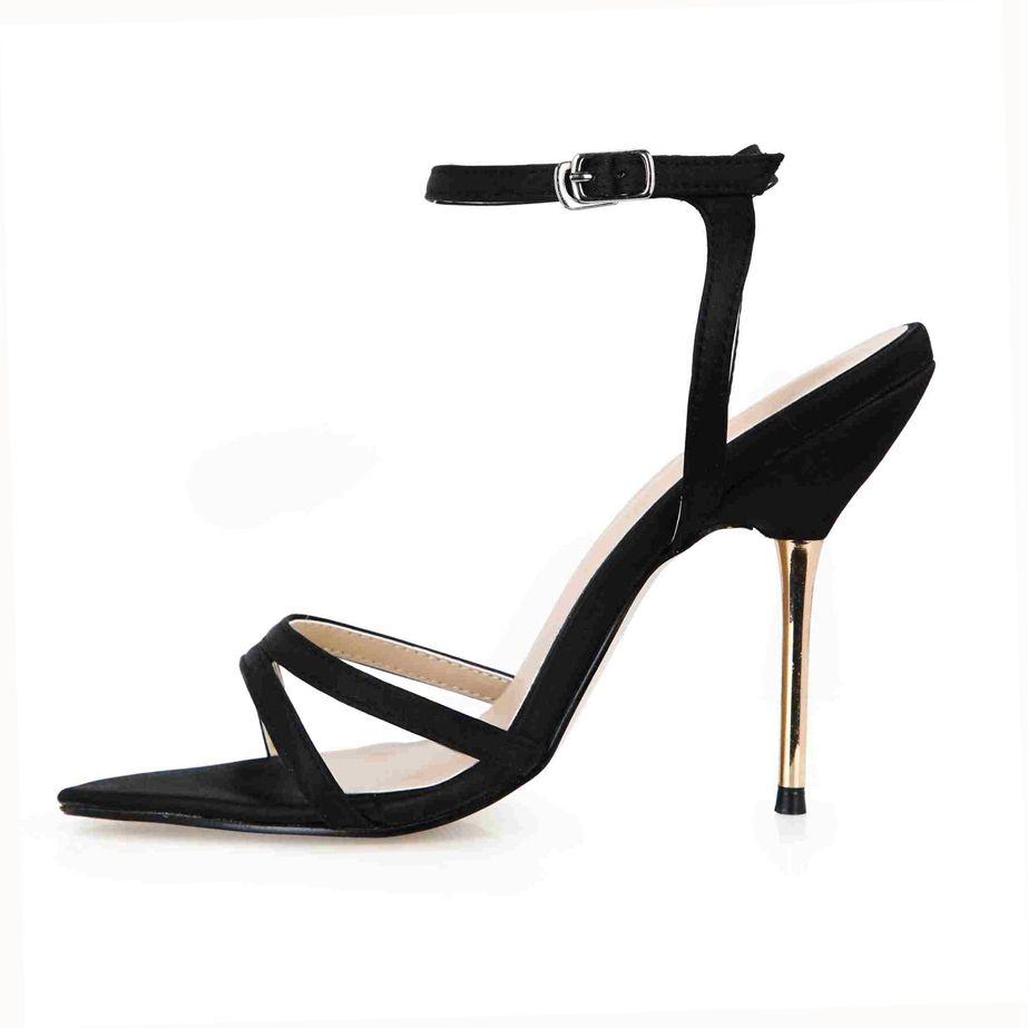 Mariée De Mariage Chaussures 2017 Nouveau Arrivent Buckle Strap Talons En Métal Réel Image Femmes Chaussures D'été Sandales Zapatillas Mujer Pas Cher Chaussures En Stock