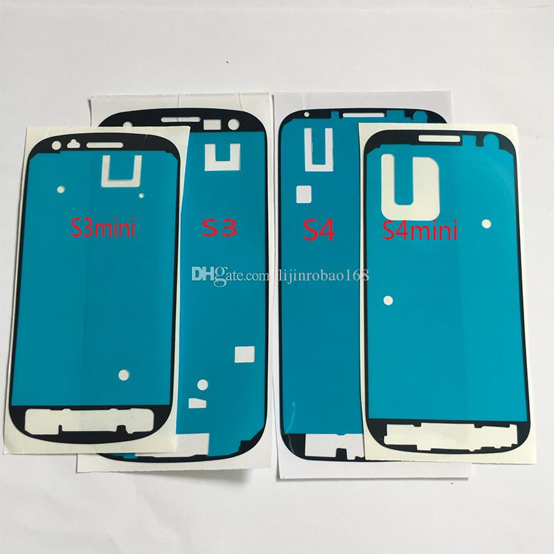 DHL per Samsung Galaxy S3 S3 mini S4 S4 mini LCD Touch Screen Front Frame Bezel 3M Colla Double Sided Adesivo Nastro adesivo