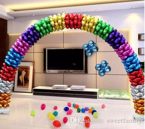 Four Petals Foil Balloons Heart-shaped Clover Balloon Birthday party Wedding Celebration Decoration Arch Aluminum Film Balloon