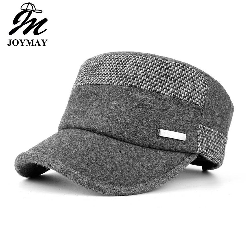 b75218614bd Joymay Brand New Winter Caps For Women Adjustable Flat Military Hats Fashion  Leisure Casual Men Snapback Hat Homme Casquettes P008 Cheap Hats Richardson  ...