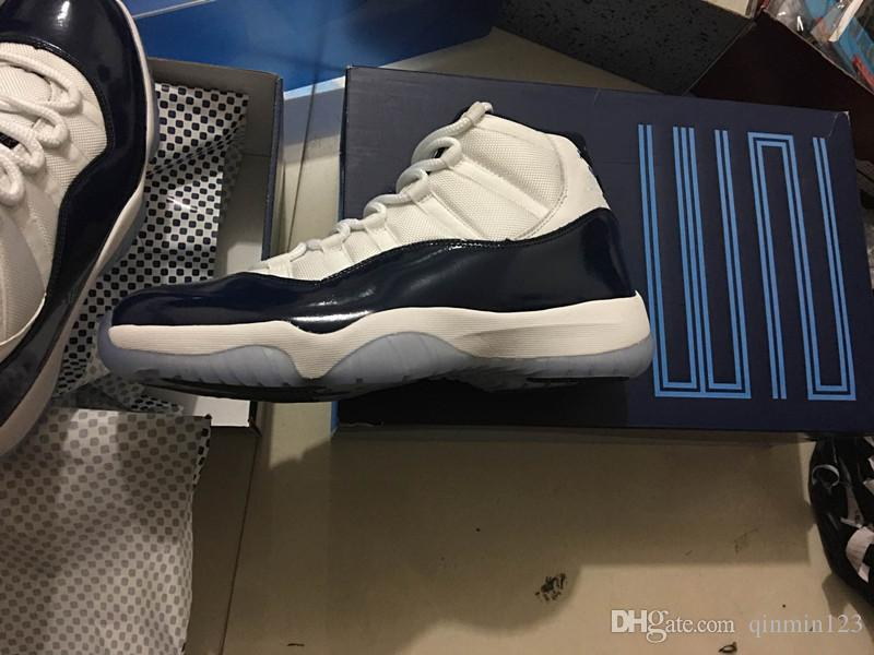 0e87934c695c91 Wholesale New 11 XI Midnight Navy Blue Men Basketball Shoes Sports Sneakers  Training Runner High Quality With Box Size 5 13 Carmelo Anthony Shoes  Basketball ...