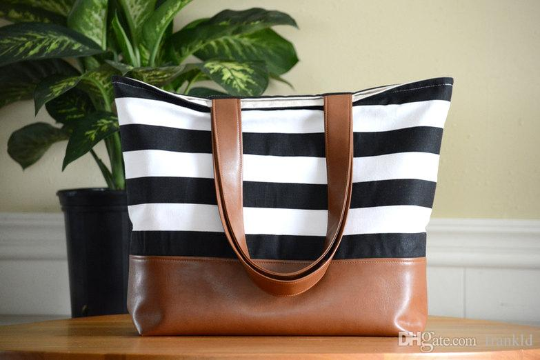 b6c4ae9c5 1pc hot sale Large Tote Bag, Diaper Bag, Teacher, Canvas Bag, Vegan Leather,  Slouchy Bag with matching color lining