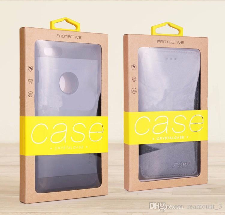 Large size Universal Cell Phone Case Retail Package Paper Packaging Box For iPhone 7 6 plus 5 5S Case for Galaxy S7 Note 4 3 2