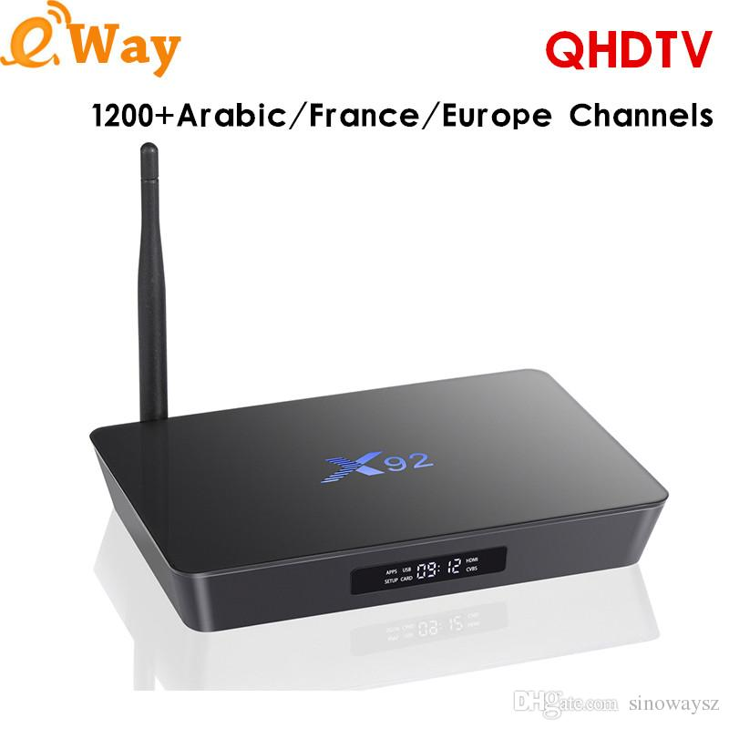X92 Android Arabic Iptv Box Support 1300 Live Stream Include European Dutch  French Africa Turkey IPTV Set Top Box