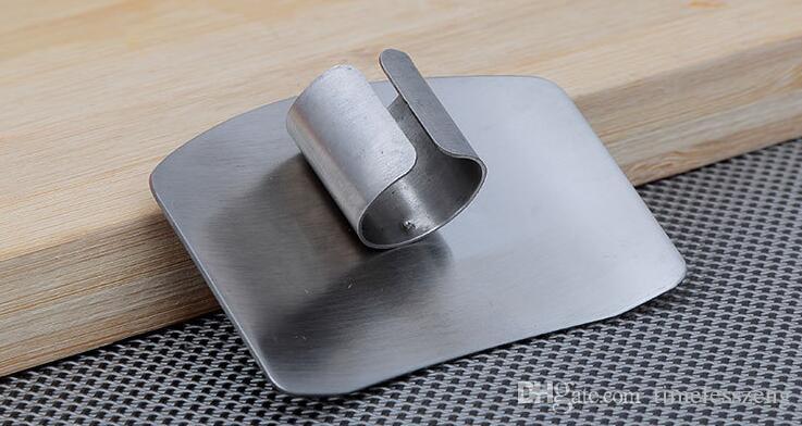 Acciaio inossidabile Finger Guard Hand Protector Design personalizzato Chop Safe Slice Knife Utensili sicuri Cucina Accessori necessari