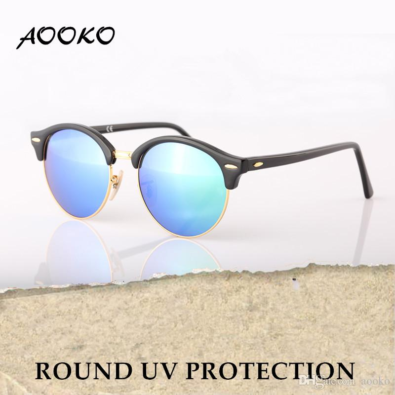 2d3e6e33c4 AOOKO Newest Hot Designer Brand Club UVA UVB Sunglasses Round Men Sun Glasses  Women Outdoor Retro Sunglass Gafas De Sol 51mm Sunglasses At Night Lyrics  ...