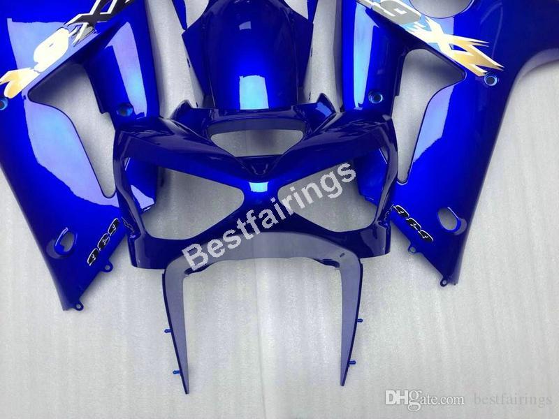 Verkleidungsteile Verkleidungskits für Kawasaki Ninja ZX6R 2003 2004 blau Motorrad Verkleidungen Set ZX6R 03 04 UY70