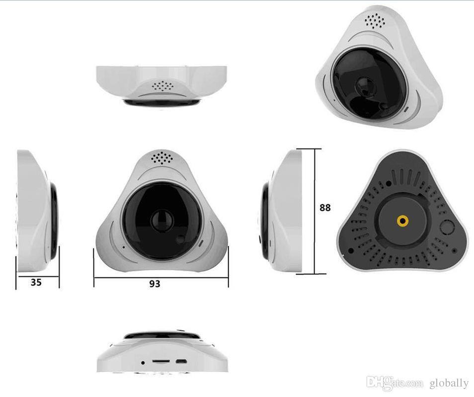360 degrés Smart panoramin IPC Caméra IP sans fil Caméra Fisheye Soutien Deux Voies Audio P2P Moniteur Bébé 960P HD 960P WIFI Caméra