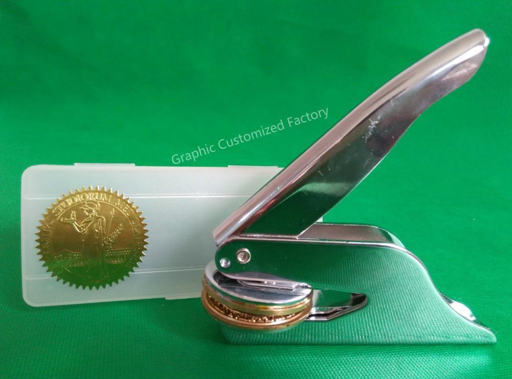 Wholesale- LOGO Design Custom Embossing Seals /Logo Design Notary Embossing  Seals Custom Stamp Diameter 36mm/40mm/42mm/45mm