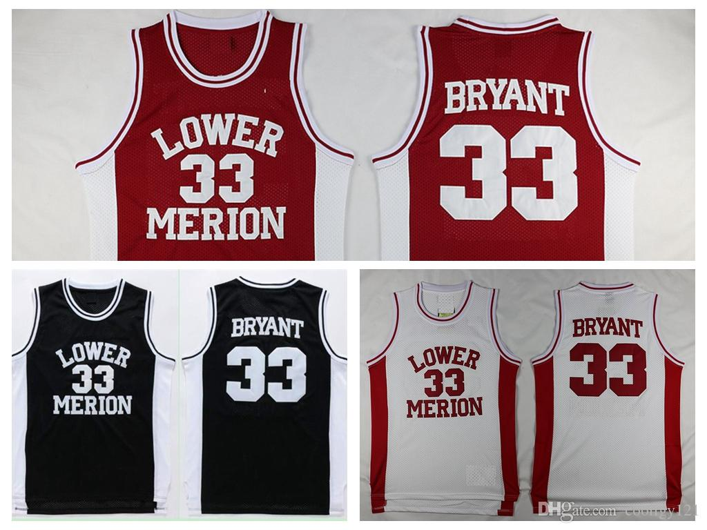 a8c011c790c ... uk online cheap 33 kobe bryant jerseys lower merion high school  basketball jersey 33 team red