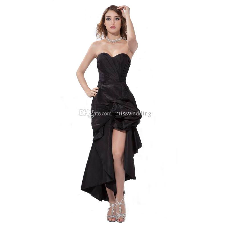New Arrival Ladies Black Evening Dress Night Party Sweetheart High