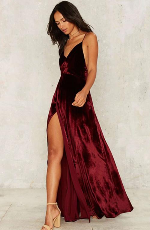 Luxe Pcs Robes 1 Cher Rouge Livraison Marque Bal Xaya Femmes Mariée De Claret Plage Longue Pas Robe Pleuche Mat sQtChdxrBo