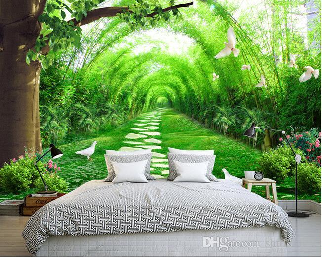 3d room wallpaper landscape custom photo mural fresh for Bamboo forest mural wallpaper