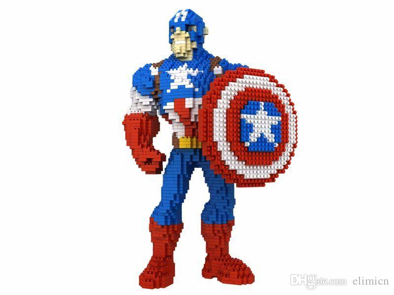 2019 Big Size Cartoon Mini Plastic Building Blocks Hero Auction Figures Captain America Anime Educational Brinquedos For Children Christmas Gifts From ...