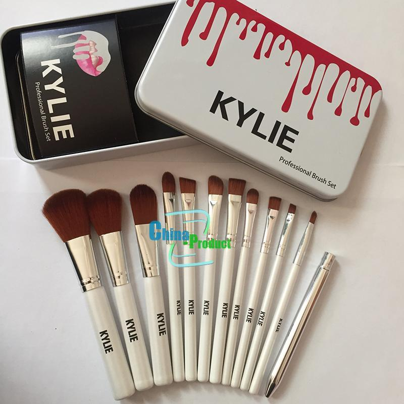 Kylie Maquiagem Pincéis Maquiagem Bush 12 pçs / set Kylie Escova Fundação Blush Em Pó Ferramentas de Maquiagem