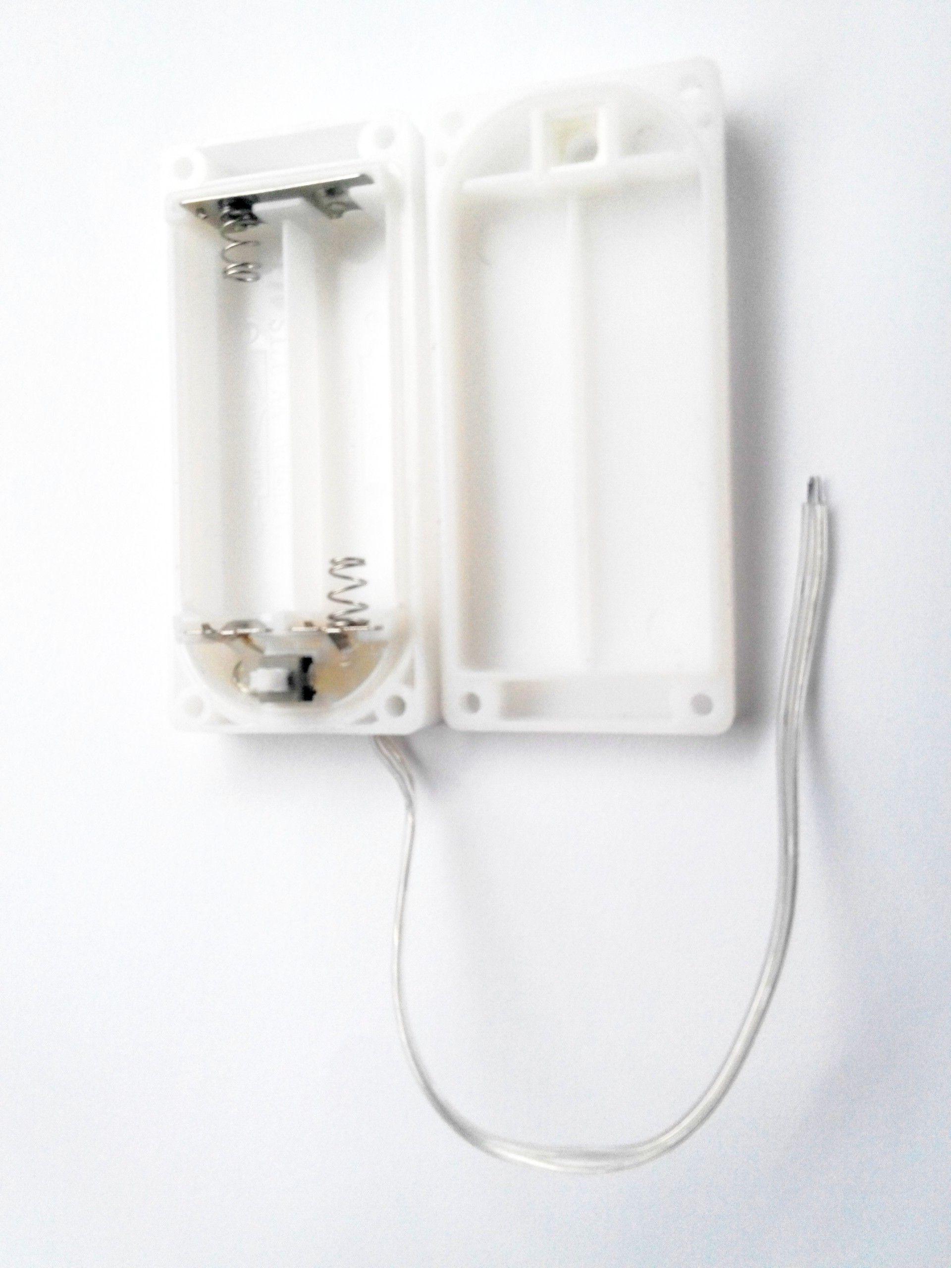 soporte de batería impermeable ip65 2aa 3aa 4aa para tira de luz led, etc.
