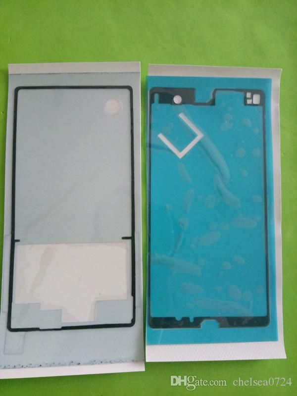 =Rear Housing Battery Cover Housing + LCD Front Middle Frame Screen Tape Sticker For Sony Xperia Z L36H L36i LT36i C6603 L36h