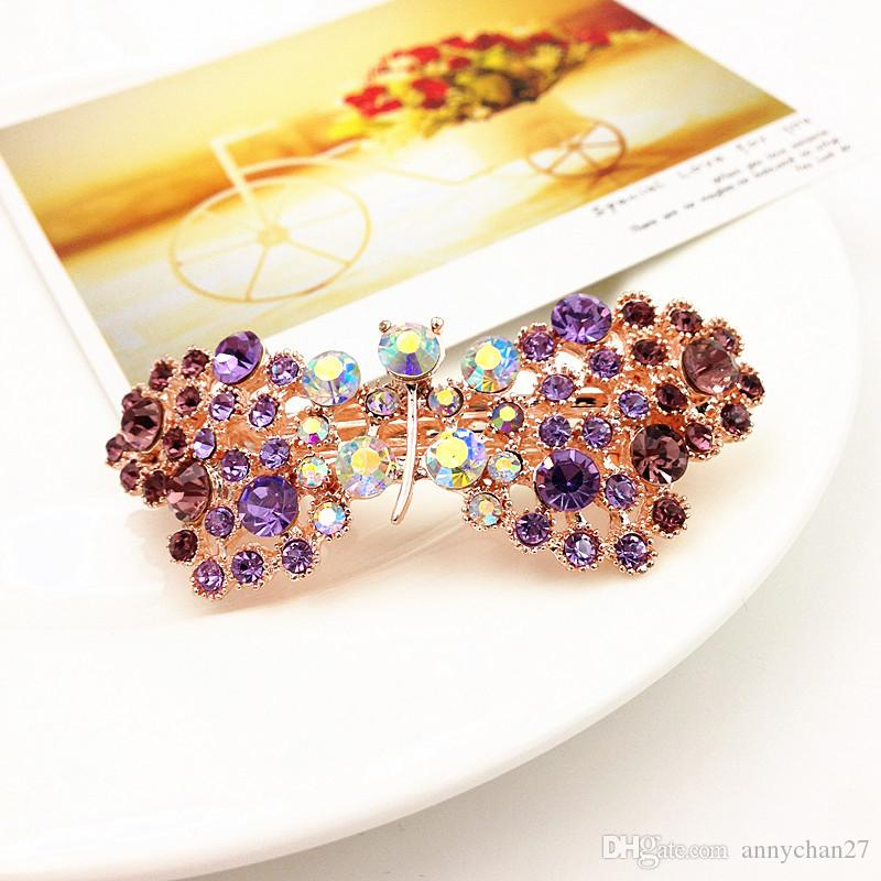 40% Off hot Barrettes hair clips Spring Clip Bling Bling rhinestone hair Pearl Heart Bow Crown Flower Leaf Wholesale Wedding Hair Jewelry