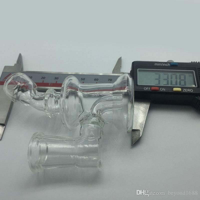 Mini Cam Bongs 14mm Kadın Ortak 3.3 inç Cam Yağ Kuleleri Kalın Pyrex Cam Su Boruları Dab Rigs