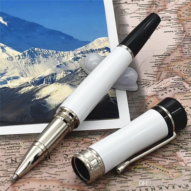Luxury pen lucky star series Unique design roller ball pen / Ballpoint Pen made of High grade white resin office school supply gift pens