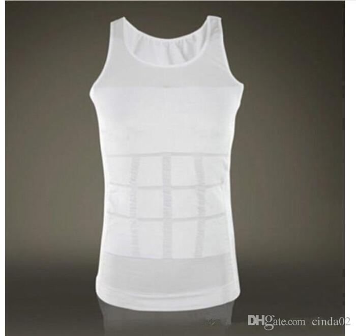 남성 슬리밍 바디 셰이퍼 밸리 지방 속옷 조끼 셔츠 코르셋 압축 보디 빌딩 속옷