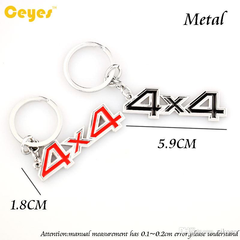 Fashion Car Keyring Logo 4X4 Emblems Badge Keychain for bmw mercedes-benz audi jeep fiat يصلح لجميع السيارات اكسسوارات السيارات التصميم