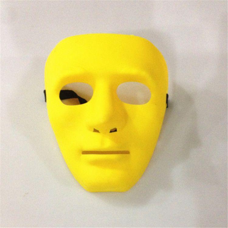 Sıcak 8 Renkler Hip Hop Street Dance Yetişkin Erkek Tam Yüz Parti Kostüm Masquerade Ball Plastik Düz Kalın Maskesi IB379 Maskesi