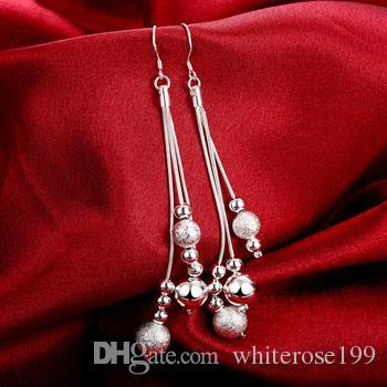 도매 - 최저 가격 크리스마스 선물 925 스털링 실버 패션 귀걸이 E06