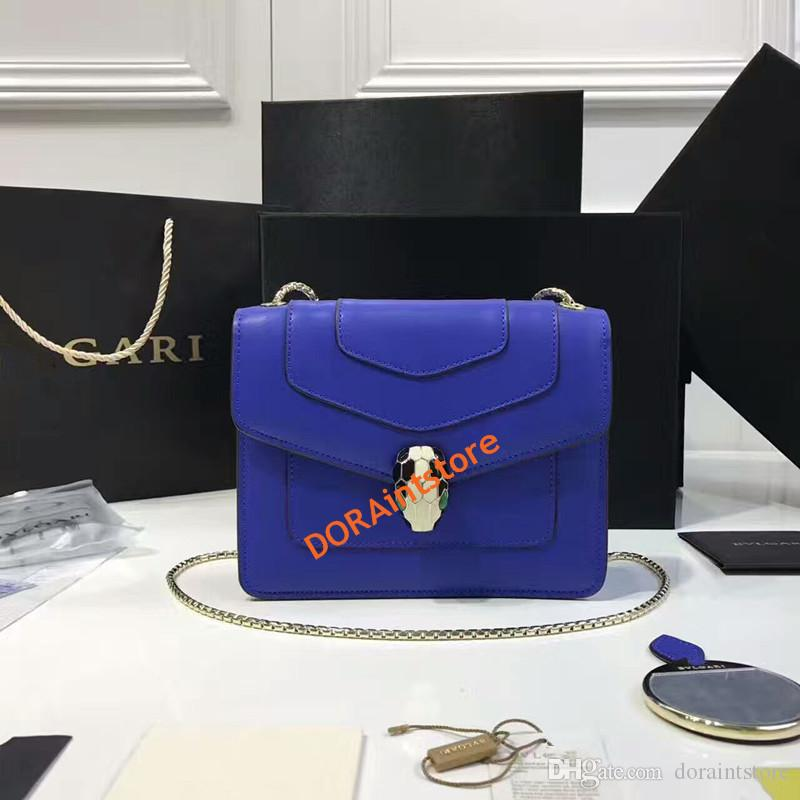 New Fashion Women Shoulder Bag Spring Fashion show same type Jewelry Serpenti Series Bag Genuine Leather Cross-body bag