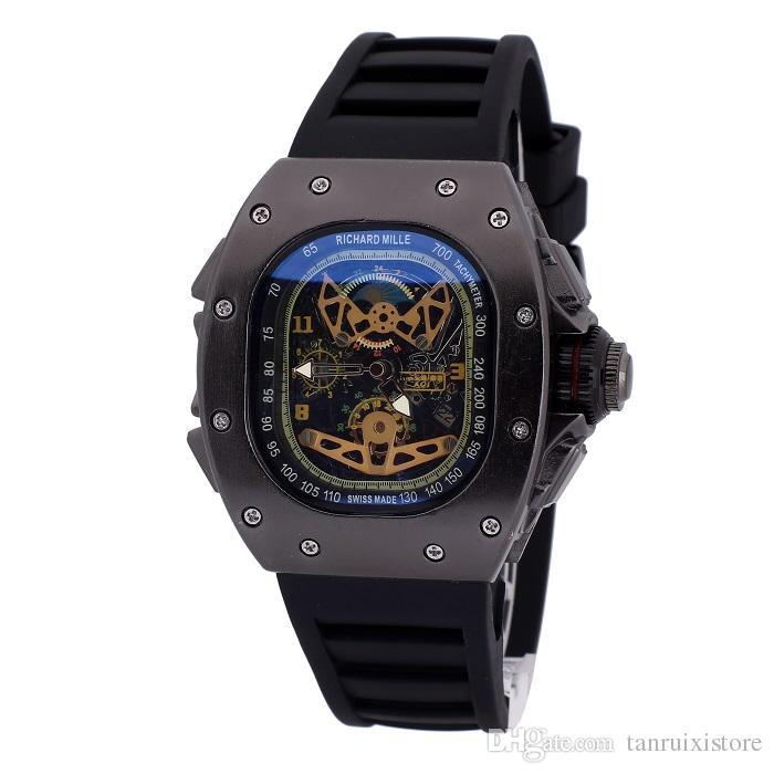 Luxury GENEVA Bracelet Men Designer Table Stainless steel Clock Items Quartz watches Man Wristwatch business classic clock