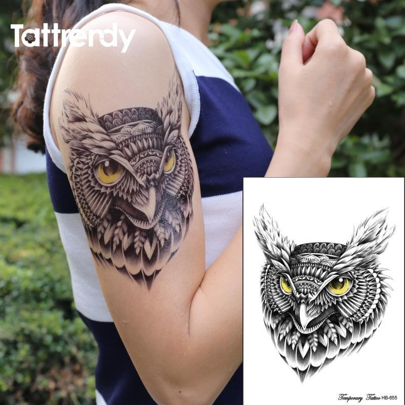 Wholesale Waterproof Temporary Tattoo Sticker On Body Owl Tattoos ...