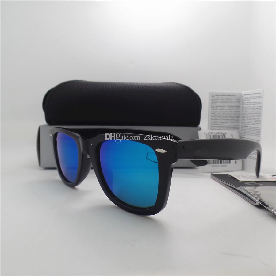 AAAA+ quality Glass lens 52MM Metal hinge Brand Designer Fashion Plank frame Men Women Sunglasses Sport Vintage Sun glasses