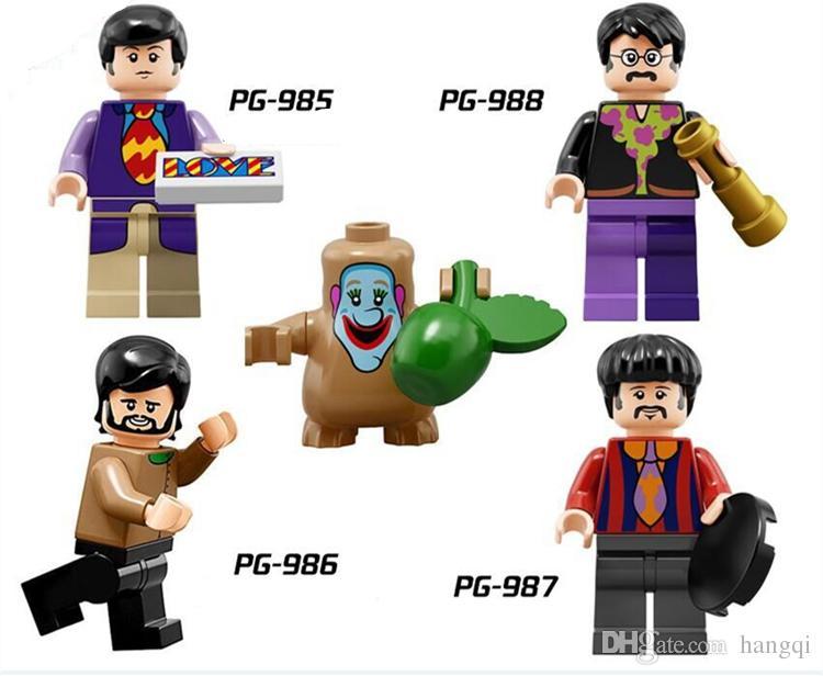 Los Beatles John Lennon George Harrison Coleccionables mini figuras de bloques de construcción Bloques de construcción de regalos para niños 800 unids / lote PG8030