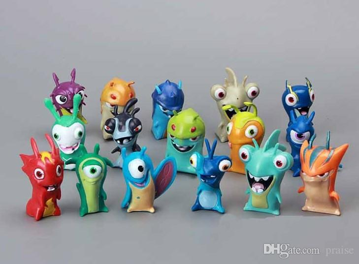 16pcs Slugterra Slug Terra Elemental Mini Action Figure Doll Toy Decoration