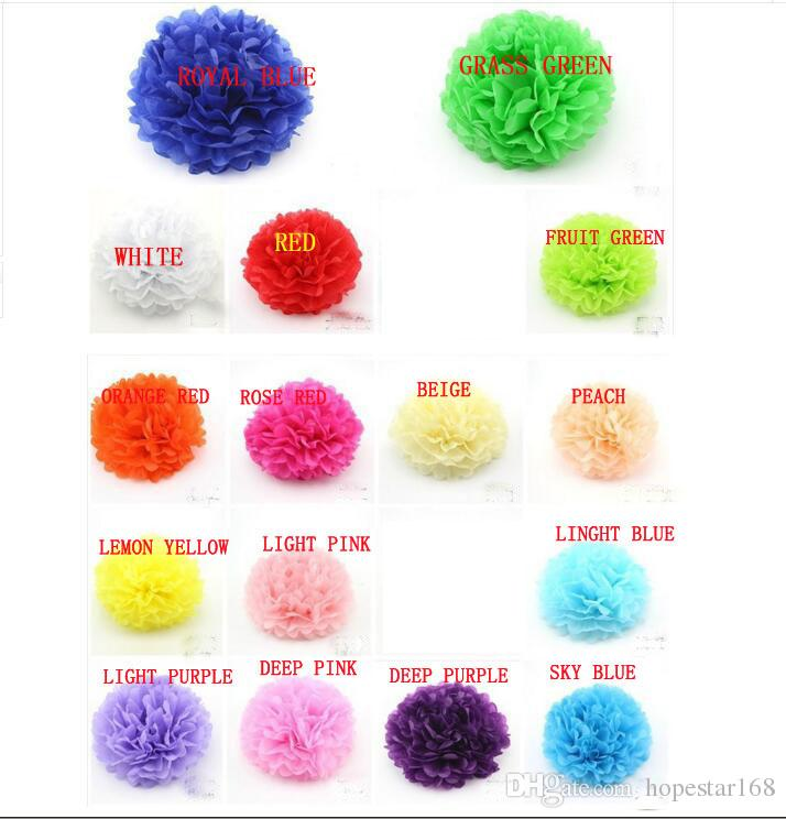 Paper Flower decorations Colorful Pom Poms Flower Kissing Balls Hanging Balloon for Wedding Party Decoration Supplies