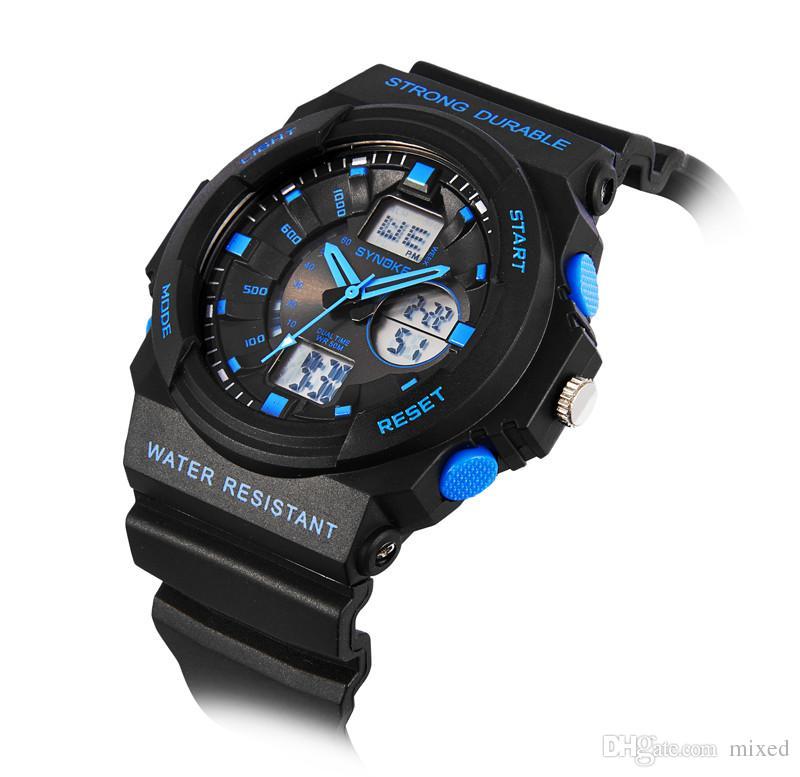 Synoke Fashion Multi Мужские часы мужские аналоговые цифровые светодиодные часы будильник Дата Спортивные военные наручные часы Подсветка наручные часы
