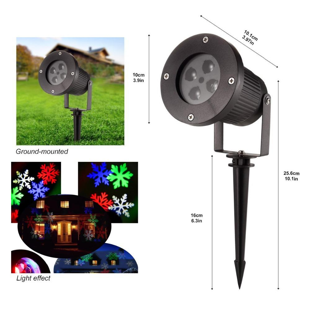 Wholesale Automatic Move Led Snowflake Projector Landscape Kerstverlichting Outdoor Projector Christmas Led Snow Flake Projector Outdoor