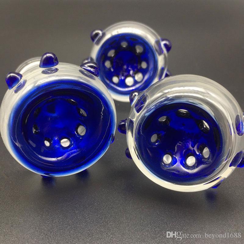 Ciotole di vetro Maschio Femmina 14.4mm 18.8mm Ciotole di vetro Bong Oil Rigs Tubi di vetro gorgogliatore