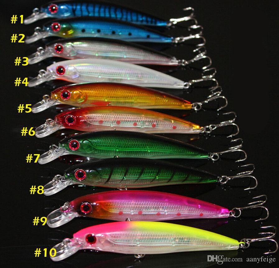 Minnow galleggiante Fishing Lure Laser Hard Bait artificiale 3D Eyes 11CM 13G Fish Wobblers pesca Crankbait Minnows