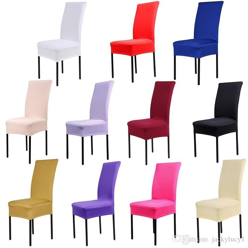 Home Chair Cover Wedding Decoration Solid Colors Polyester Spandex Dining  Chair Covers For Wedding Party Universal Sizes New Dining Chair Covers For  Sale ...