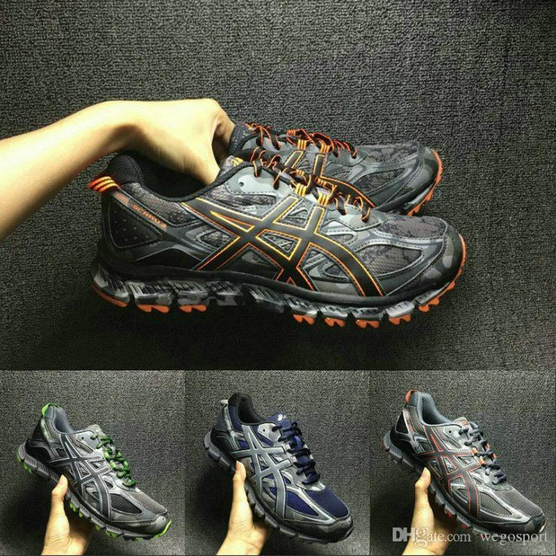 low priced 57790 800d4 Melhor Qualidade Asics Gel-Scram 3 T6K2N-9790 Cross-Country Running Shoes  Novos Chegadas Homens Original Atletismo Esporte Tênis 40.5-44