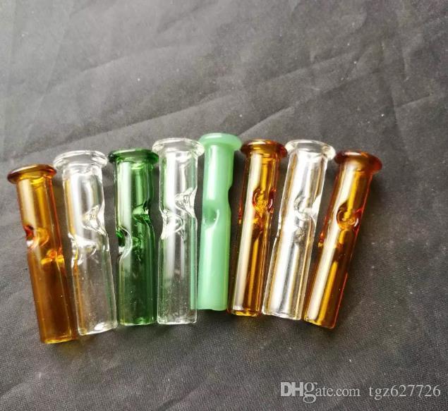 Accessori bong in vetro di aspirazione, tubi il fumo in vetro colorato mini tubi multi-colori mani