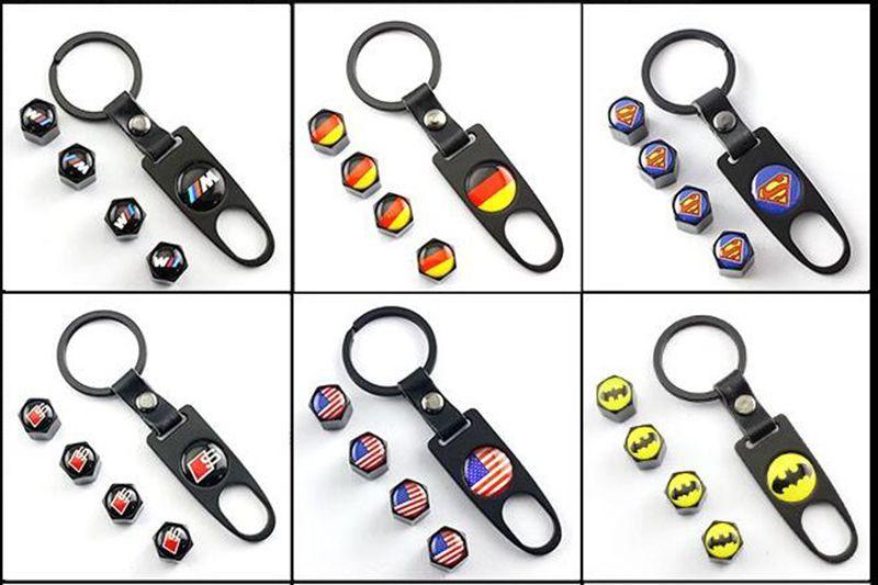 Accesorios del automóvil Rueda del neumático Rueda de automóvil Tapas con mini llave Llavero logo pirata para BMWE46 E30 E34 E36 E39 E53 E60 F10 F30 M3 M5