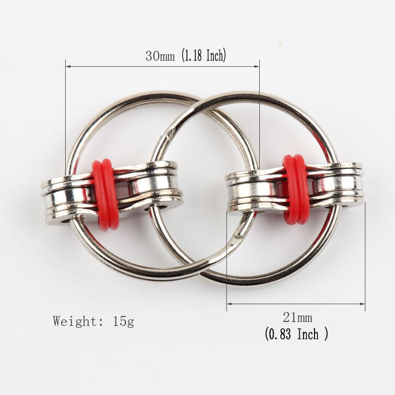 Flippy Chain Fidget Toy Stress Reducer Perfect For ADD ADHD Anxiety and Autism Key Ring Fidget Support FBA Drop Shipping C158Q