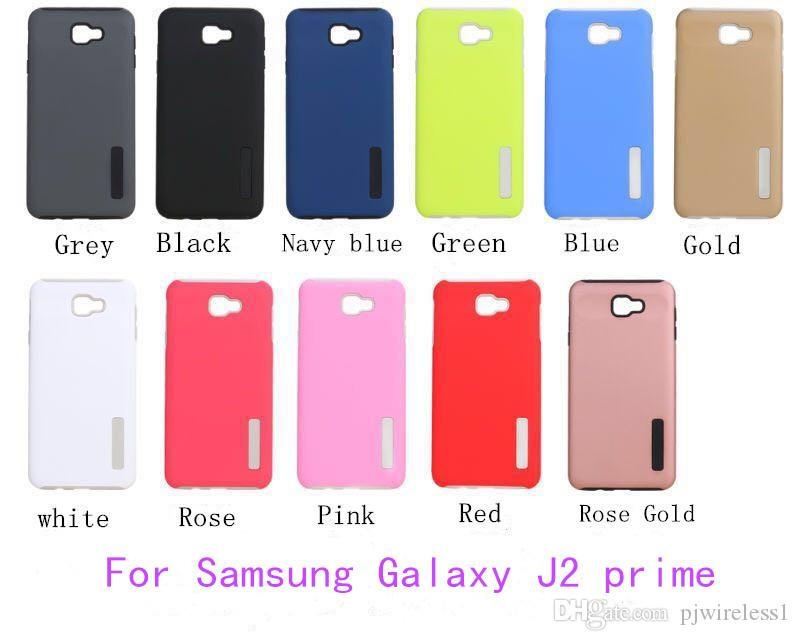 For Samsung Galaxy J2 Prime Grand J5 ON5 2016 A7 2017 Hybrid Dual Layer Armor Case Protective Back Shockproof Cover Jeweled Cell Phone