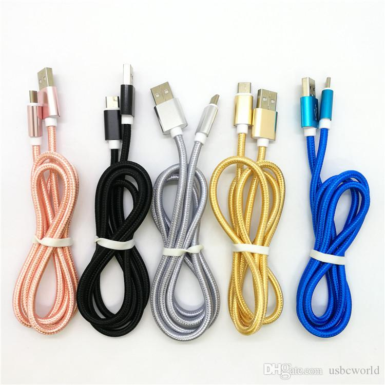 Alta qualità Tipo di ricarica rapida C Cavo USB 1.0 Meter 3Feet Samsung Note 8 S8 S8Plus