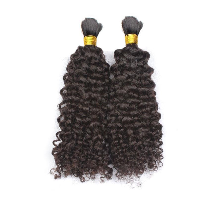 İnsan Saç Toplu 3 Tops Deal Ucuz Brezilyalı Kinky Kıvırcık Toplu Saç Örgü İçin Toplu Içinde Atkı Yok