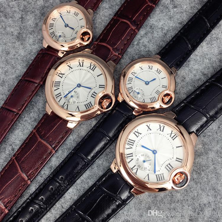 Classic Fashion Top Brand Man Hot sale Unsex watch leather wristwatch Women Dress Watch Quartz Clock Steel lovers watch relogio masculino
