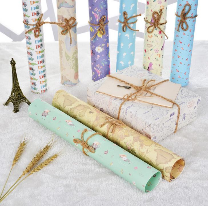 Hot Sale 50*70cm DIY Gift Wrapping Paper For Birthday